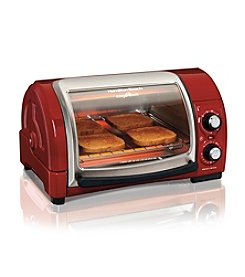 Hamilton Beach® Red Easy Reach™ Toaster Oven with Roll-Top Door