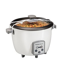 Hamilton Beach® White Digital Rice Cooker