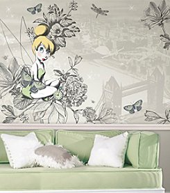RoomMates Vintage Tinkerbell Wall Mural