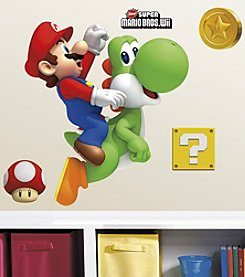 RoomMates Yoshi/Mario Peel & Stick Giant Wall Decals