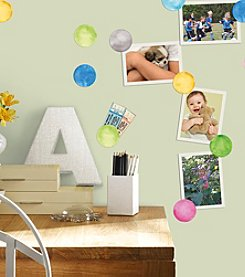 RoomMates Watercolor Dots Peel & Stick Wall Decals