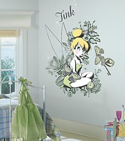 RoomMates Vintage Tinkerbell Mega Peel & Stick Giant Wall Decal