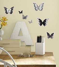 RoomMates 3D Butterflies Peel & Stick Wall Decals