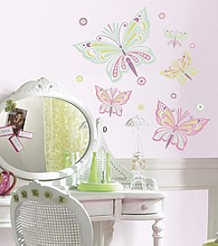 RoomMates Waverly Butterfly Peel & Stick Giant Wall Decals