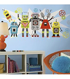 RoomMates Waverly Robots Peel & Stick Giant Wall Decal