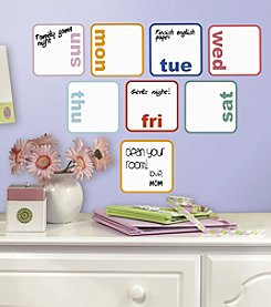 RoomMates Days of the Week Planner Dry Erase Peel & Stick Wall Decals