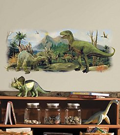 RoomMates Dinosaurs Giant Scene Peel & Stick Wall Graphic