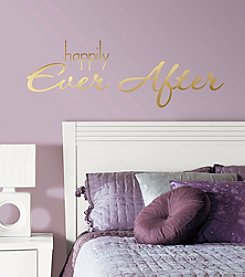 RoomMates Happily Ever After Quote Peel & Stick Wall Decals