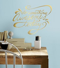 RoomMates Do Something Awesome Quote Peel & Stick Wall Decals