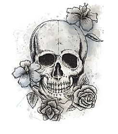 RoomMates Neutral Floral Skull Peel & Stick Giant Wall Decals