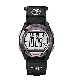 Timex® Men's Expedition Digital CAT Black Fast Wrap Velcro Strap Watch