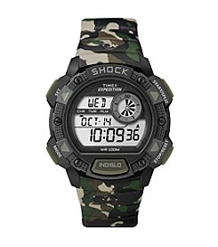 Timex® Men's Expedition Base Shock Black/Camo Watch