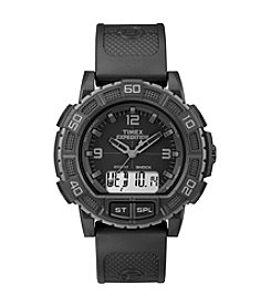 Timex® Men's Expedition Double Shock Black Watch