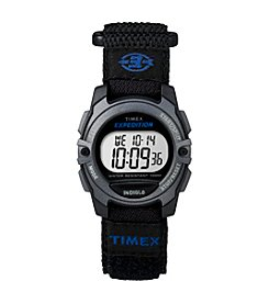 Timex® Unisex Expedition CAT Black Fast Wrap Velcro Strap Watch
