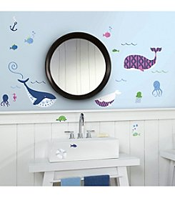 RoomMates Sea Whales Peel & Stick Wall Decals