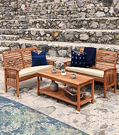 W. Designs 3-pc. Acacia Patio Conversation Set