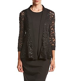 R&M Richards® Sequin Lace Shrug