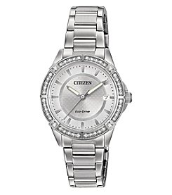 Citizen® Women's Eco-Drive Crystal Accent Stainless Steel Bracelet Watch