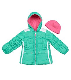 London Fog® Girls' 2T-4T Puffer Jacket With Hat