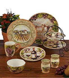 Certified International by Susan Winget Sanctuary Wine Dinnerware Collection