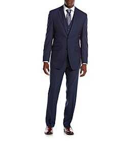 Perry Ellis® Slim Fit Sharkskin Suit Separates