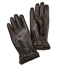Isotoner Signature® Men's Faux Napa Leather Gloves