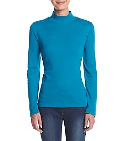 Studio Works® Petites' Mock Neck Top