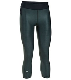 Under Armour® Metallic HeatGear® Capri Leggings