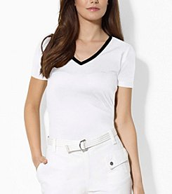 Lauren Active® Cotton V-Neck Tee