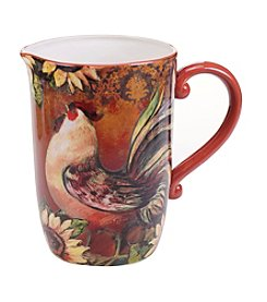 Certified International by Susan Winget Sunflower Rooster 3.25-qt. Pitcher