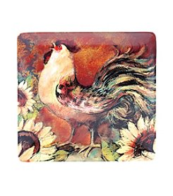 Certified International by Susan Winget Sunflower Rooster Square Platter