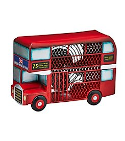 Deco Breeze Double Deck Bus Figurine Fan