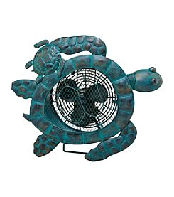 Deco Breeze Sea Turtles Figurine Fan