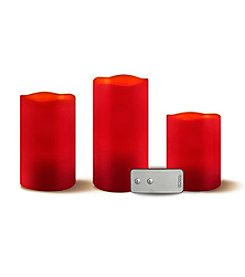 Order Home Collection 3-pc. Red LED Candles w/Remote