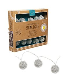 Order Home Collection® 10' Mercury Dewdrop Ball String Lights