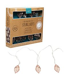 Order Home Collection® 10' 3D Copper Leaf String Lights