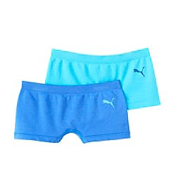 PUMA® Girls' 6-16 2-Pack Seamless Boyshorts