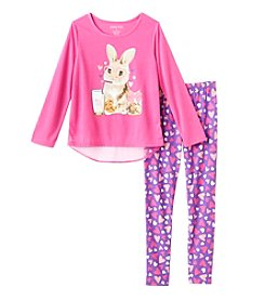 Komar Kids® Girls' 2-Piece Bunny Pajama Set