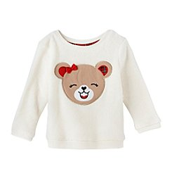 Mix & Match Baby Girls' Bear Plush Pullover