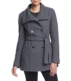 Calvin Klein Basketweave Trench Coat