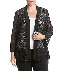 R&M Richards® Plus Size Sequin Lace Shrug