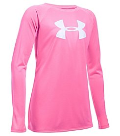 Under Armour® Girls' 7-16 Long Sleeve Big Logo Tee