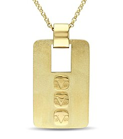 V1969 ITALIA Men's Logo Mark Pendant Necklace