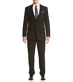 Van Heusen Men's Black Solid Stretch Suit Separates
