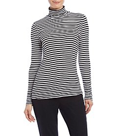 Cupio Classic Stripe Turtleneck