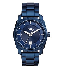 Fossil® Men's 42mm Machine BlueTone Stainless Steel Watch