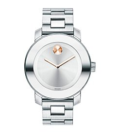 Movado® BOLD Women's Silver Dial Stainless Steel Watch