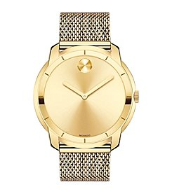 Movado Men's 44mm Bold® Goldtone Mesh Bracelet Watch