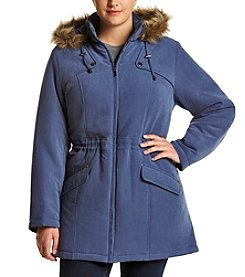 Breckenridge® Plus Size Faux Fur Trimmed Anorak