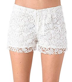 Standards & Practices Tara Tencel Shorts with Lace